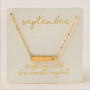 Francesca's September Bar Necklace